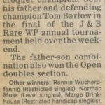 1984 Charles Barlow beats dad