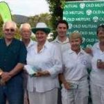 L-R: Alan Broadhurst,Old Mutual;<br />Ellis Langeveld Chairman of SWCC;<br />1st prize winner Christina Vries FHCC;<br />Gary Hughes, Old Mutual;<br />2nd prize winner Thea Lotz KCC;<br />Tournament Manager Clare Stableford.