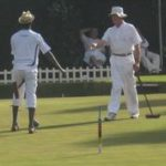 Winning shot in the Lower Handicap Singles Final
