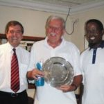 Peter Warren of Warwick Wealth, Mike Corcoran (Winner) & Victor Dladla (Runner-Up)