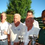 John Hedding (Zoo lake) and Victor Dladla (CCJ) -  Runners up – Mike Corcoran and Chris Wakeham (CCJ)