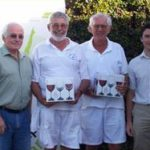 Alan Broadhurst (Old Mutual), Louis Crole (SWCC) & Nick Westmore (FHCC), joint 2nd Prize winners & Gary Hughes (Old Mutual)