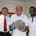 Peter Warren of Warwick Wealth, Mike Corcoran (Winner) & Victor Dladla (Runner-Up)