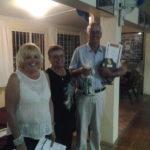 Mercia kruger, Noeline Kirsten and the winner of the Open Singles Richard Prosser